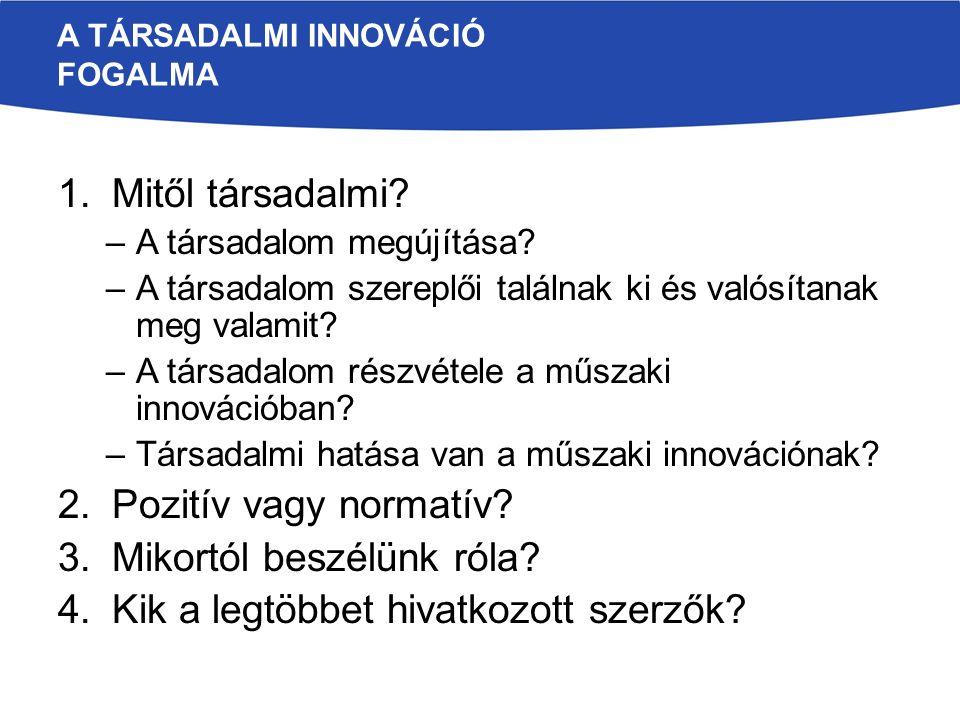 A társadalmi innováció fogalma