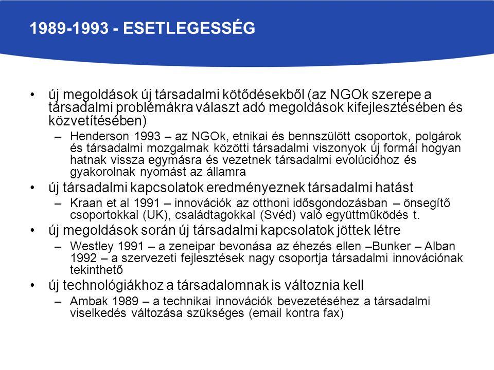 1989-1993 - esetlegesség