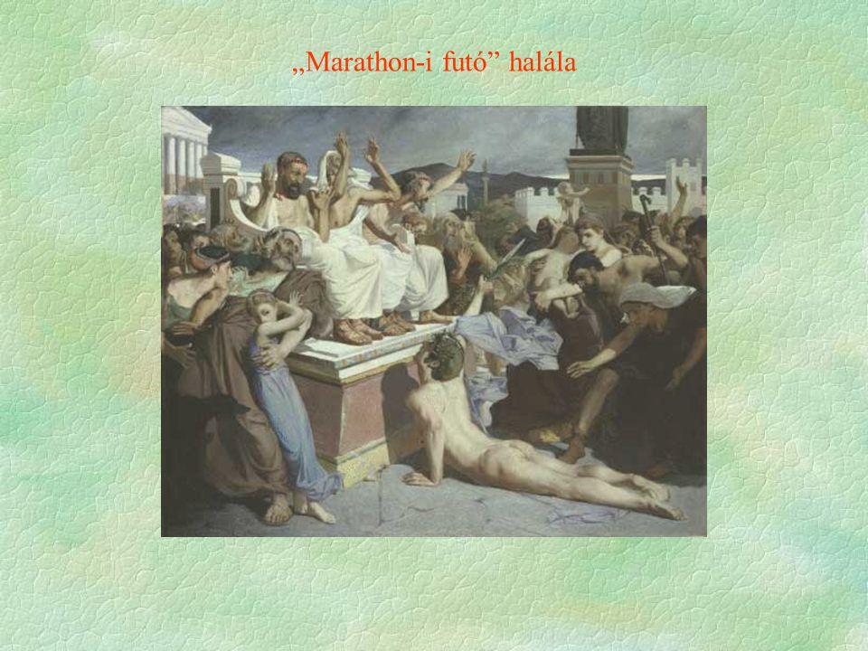 """""""Marathon-i futó halála"""