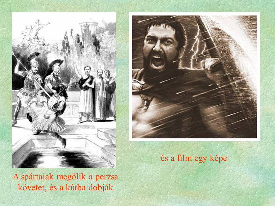 A spártaiak megölik a perzsa követet, és a kútba dobják
