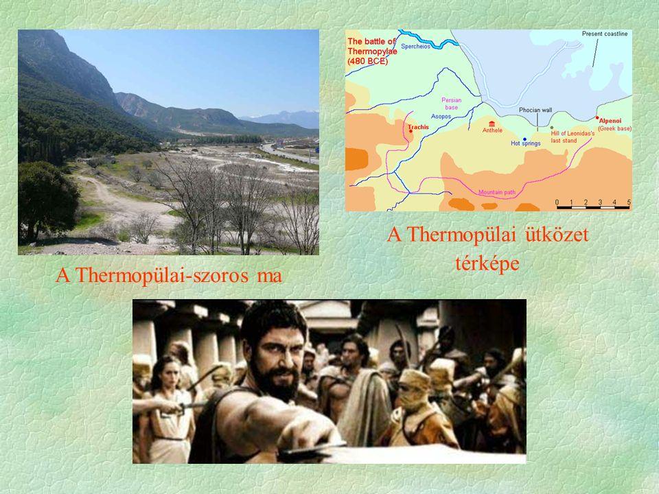A Thermopülai ütközet térképe