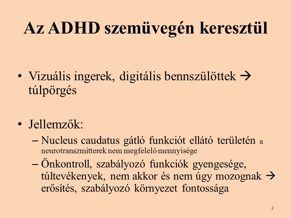Az ADHD szemüvegén keresztül