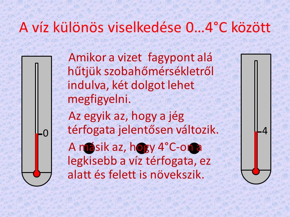 A víz különös viselkedése 0…4°C között