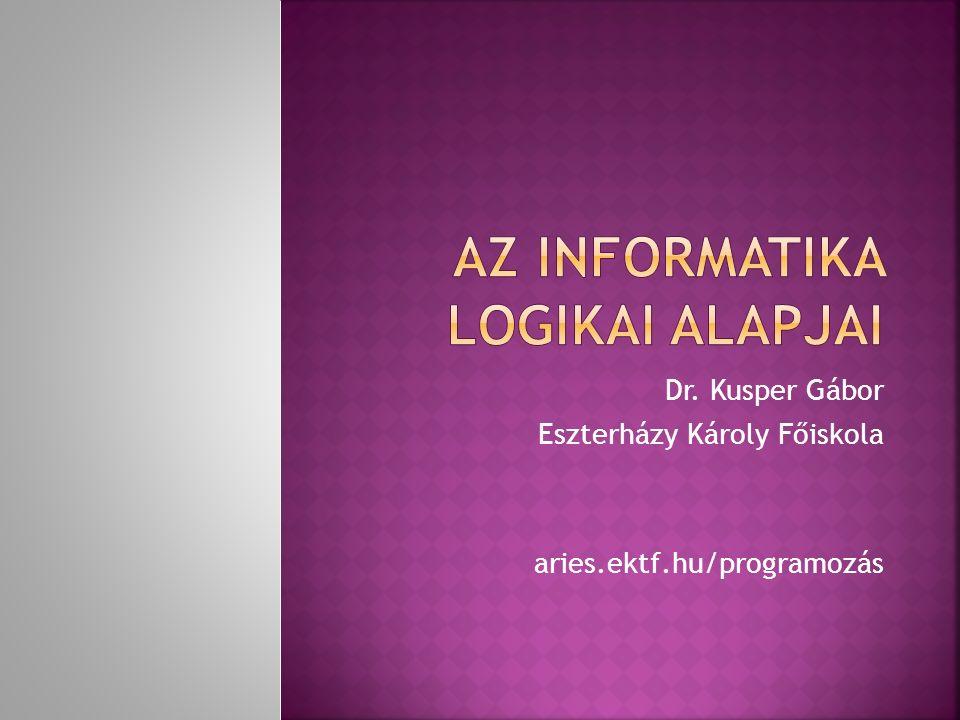 Az informatika logikai alapjai