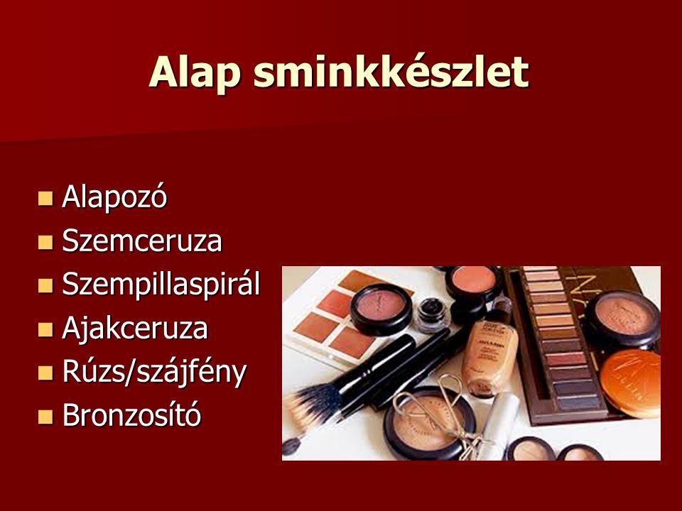Alap sminkkészlet Alapozó Szemceruza Szempillaspirál Ajakceruza