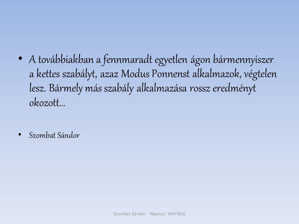 Szombat Sándor - Neptun: WKYNGE