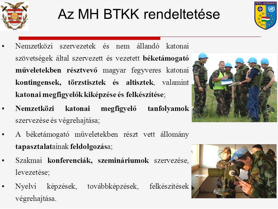 Az MH BTKK rendeltetése