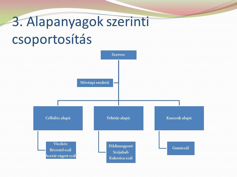 3. Alapanyagok szerinti csoportosítás