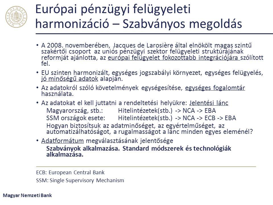 Európai pénzügyi felügyeleti harmonizáció – Szabványos megoldás