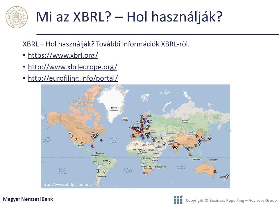 Mi az XBRL – Hol használják