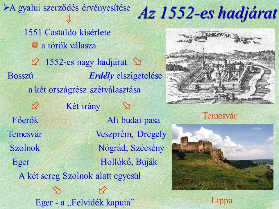Az 1552-es hadjárat A gyalui szerződés érvényesítése 