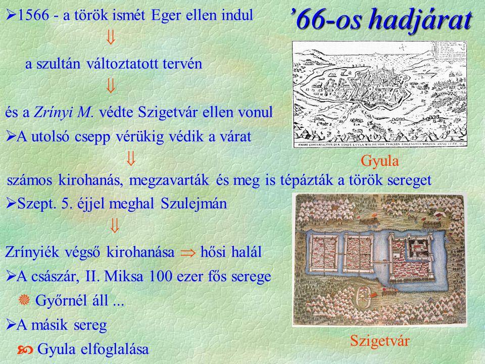 '66-os hadjárat 1566 - a török ismét Eger ellen indul 