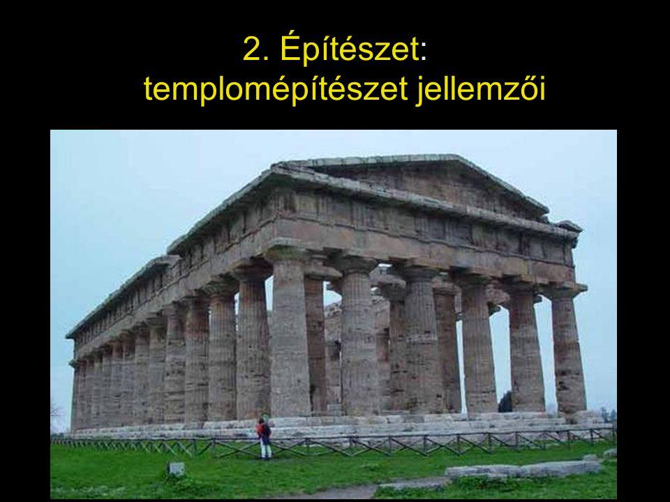 2. Építészet: templomépítészet jellemzői
