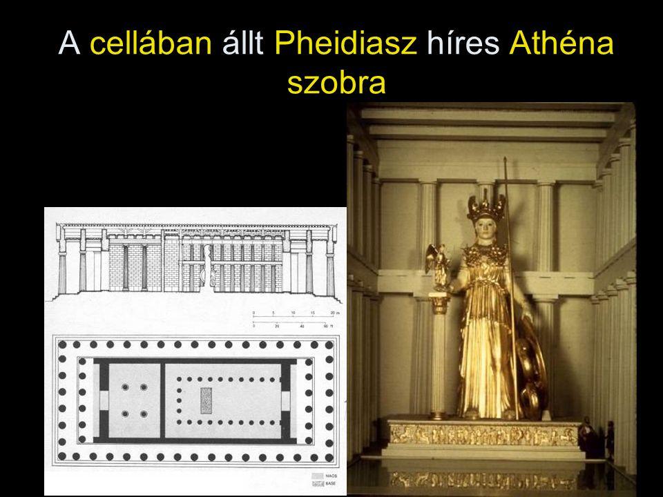 A cellában állt Pheidiasz híres Athéna szobra