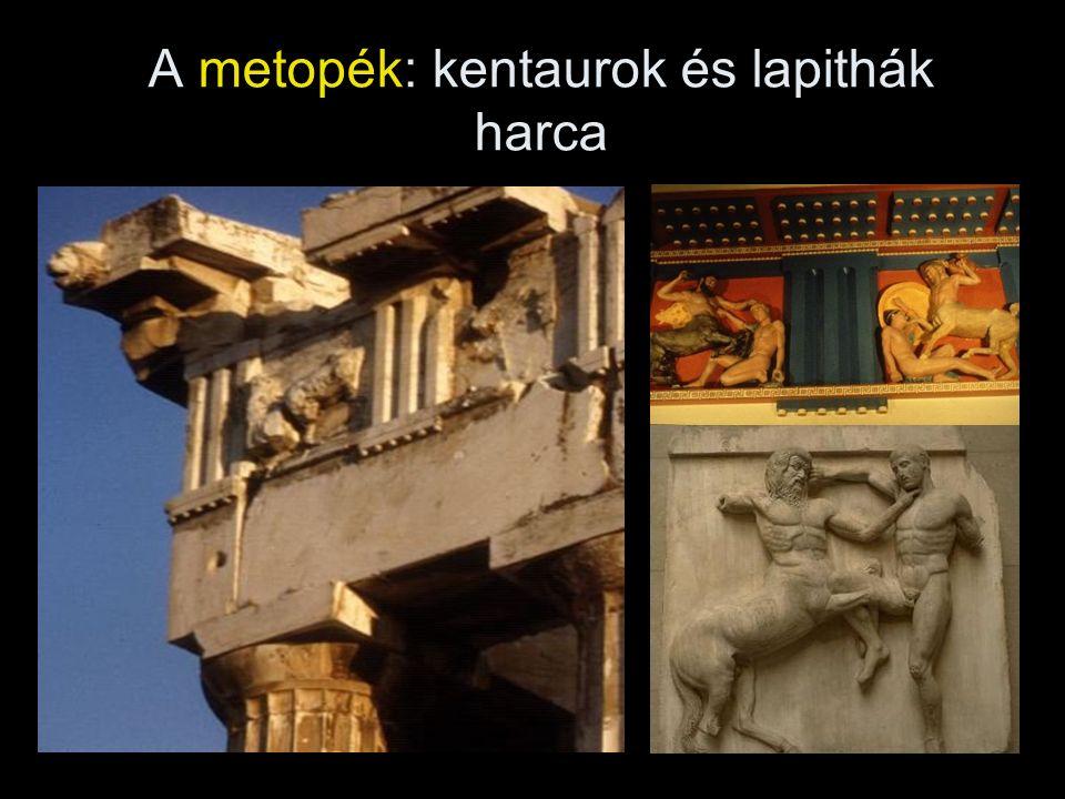 A metopék: kentaurok és lapithák harca
