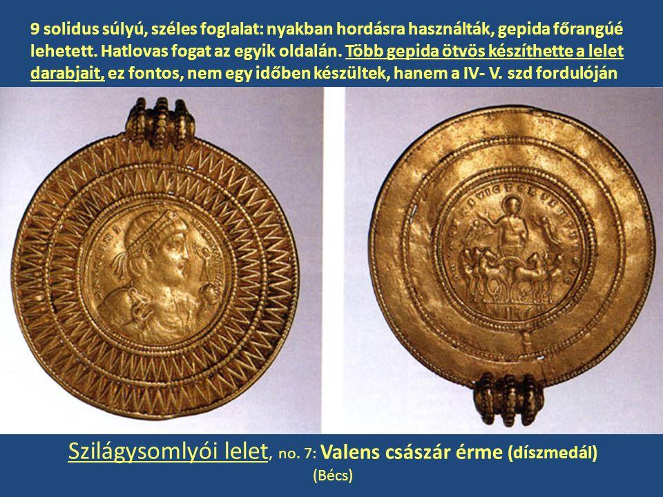 Szilágysomlyói lelet, no. 7: Valens császár érme (díszmedál)
