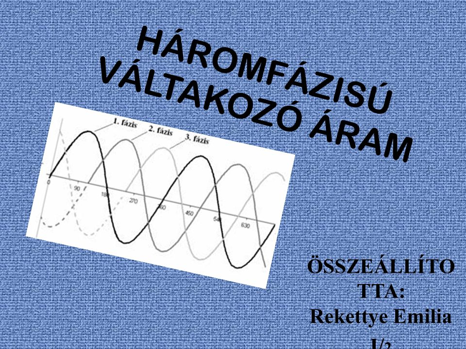 HÁROMFÁZISÚ VÁLTAKOZÓ ÁRAM
