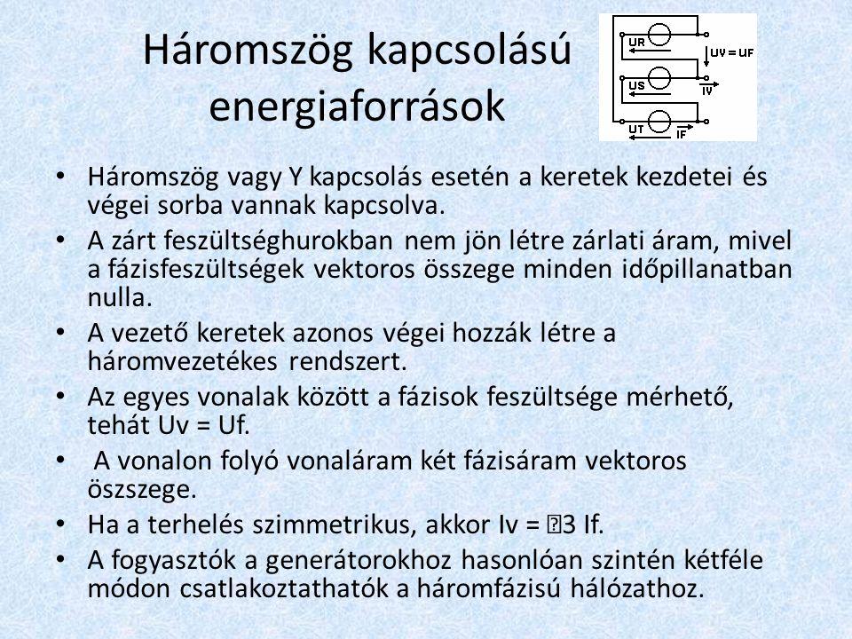 Háromszög kapcsolású energiaforrások