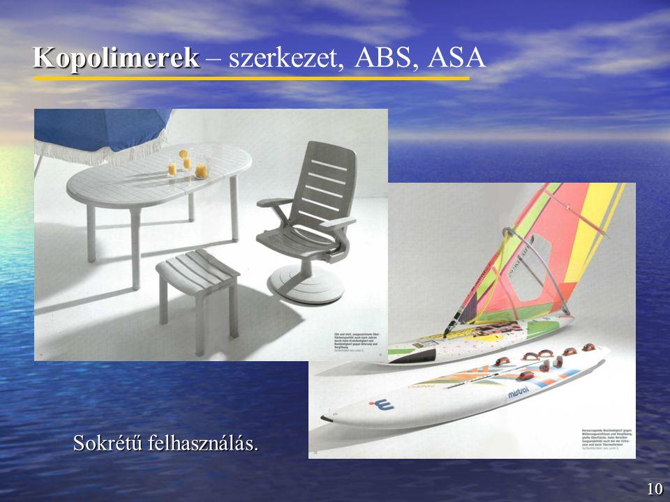 Kopolimerek – szerkezet, ABS, ASA