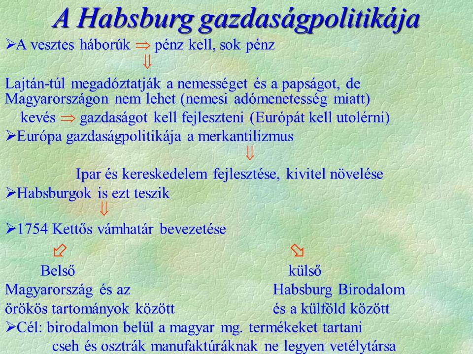 A Habsburg gazdaságpolitikája