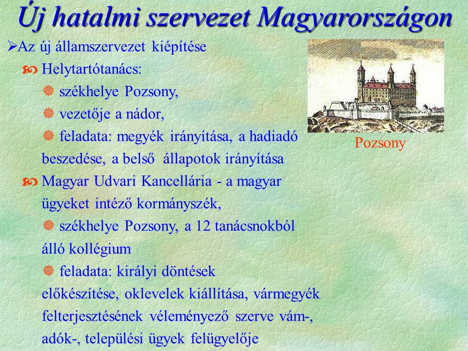 Új hatalmi szervezet Magyarországon