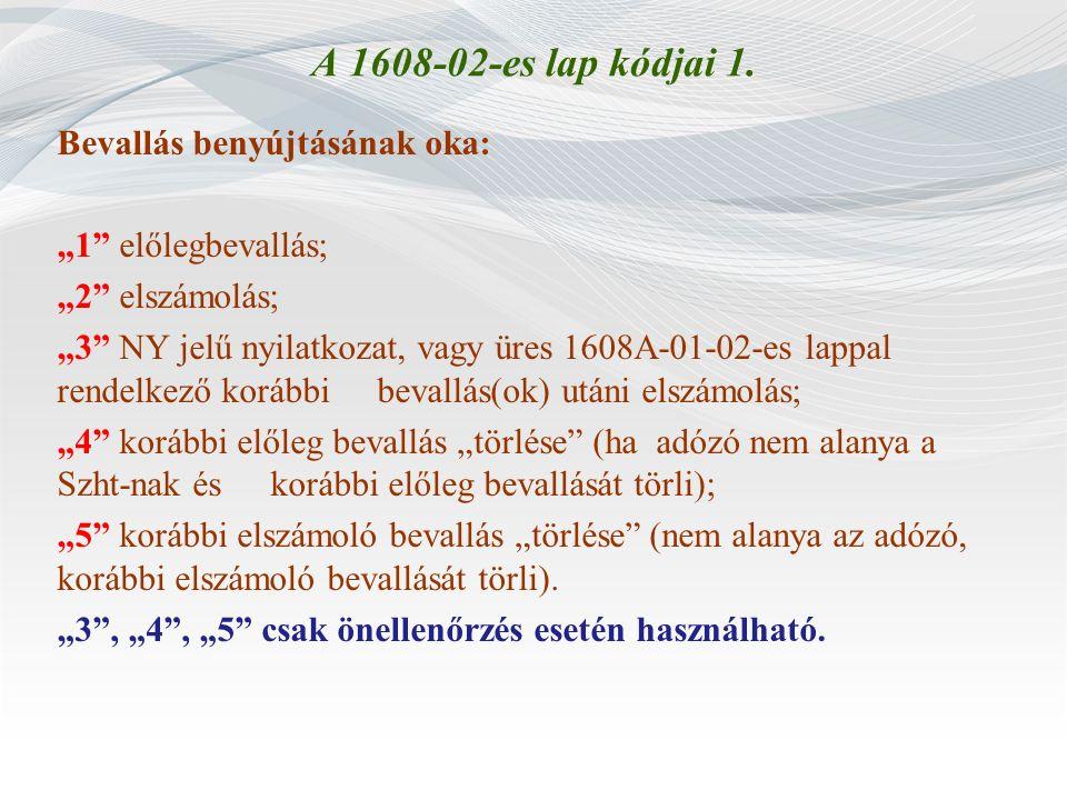 A 1608-02-es lap kódjai 1.