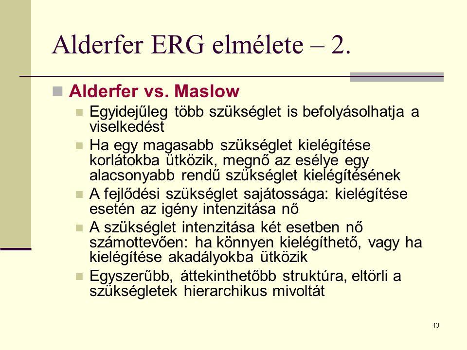 Alderfer ERG elmélete – 2.