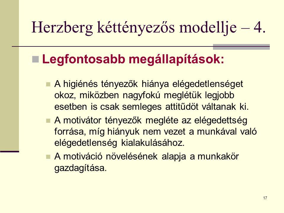 Herzberg kéttényezős modellje – 4.