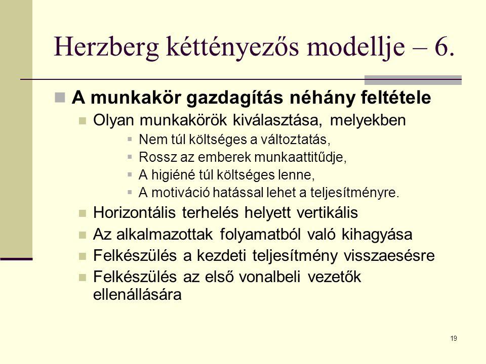 Herzberg kéttényezős modellje – 6.