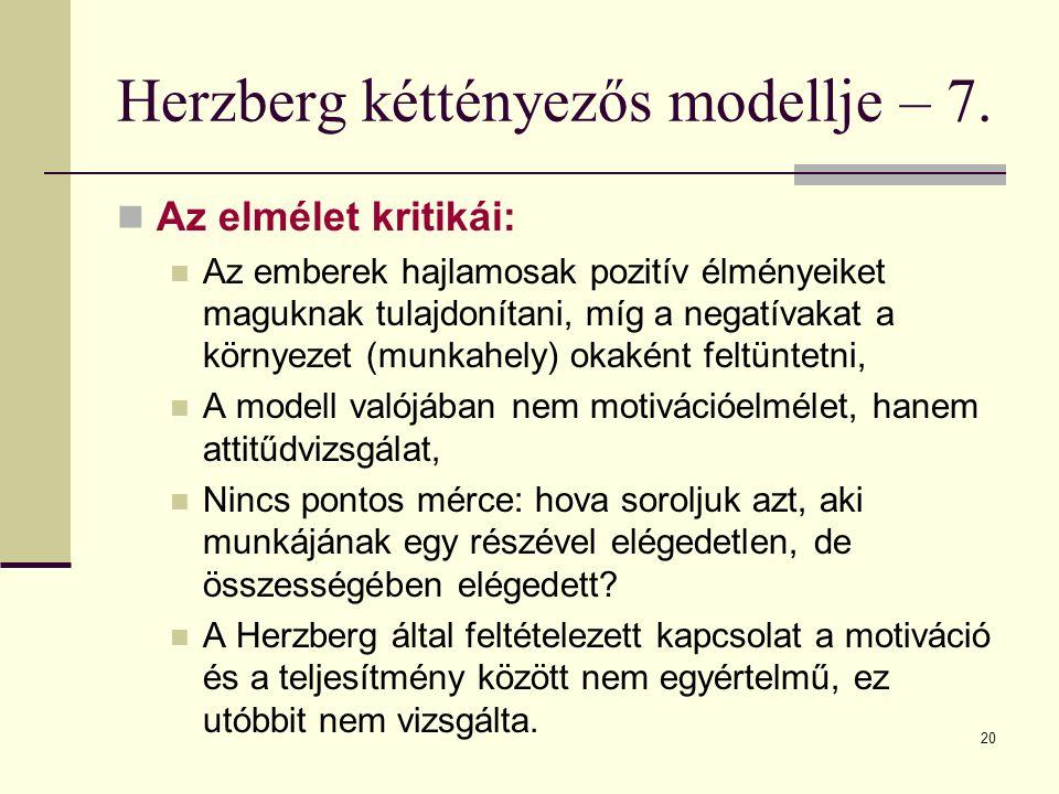 Herzberg kéttényezős modellje – 7.