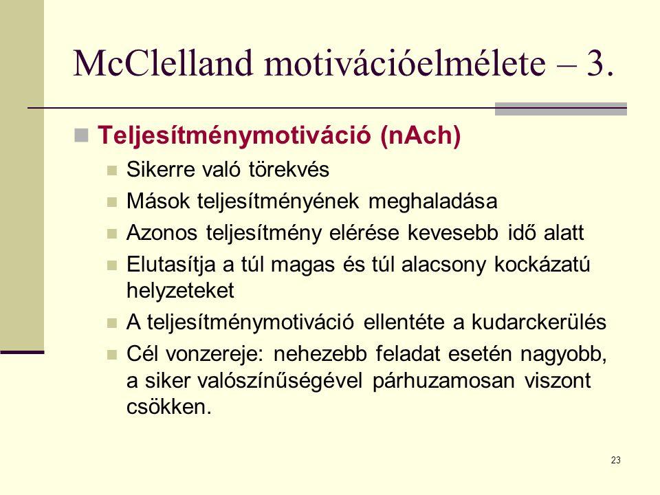 McClelland motivációelmélete – 3.