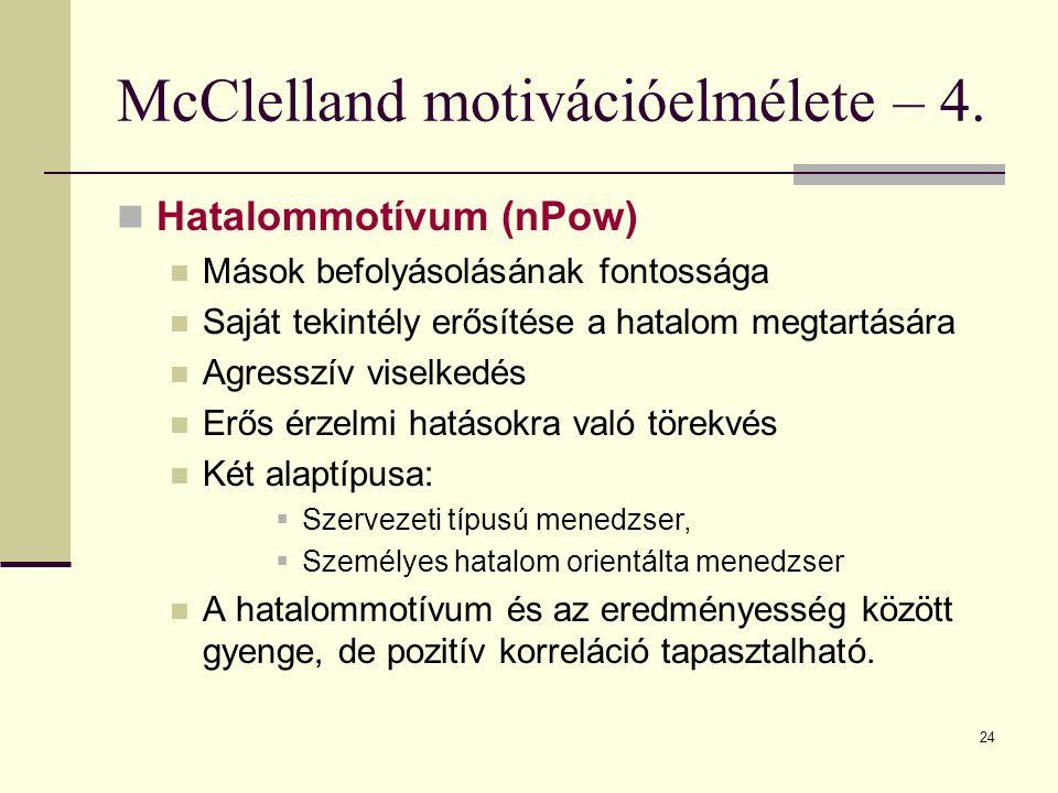 McClelland motivációelmélete – 4.