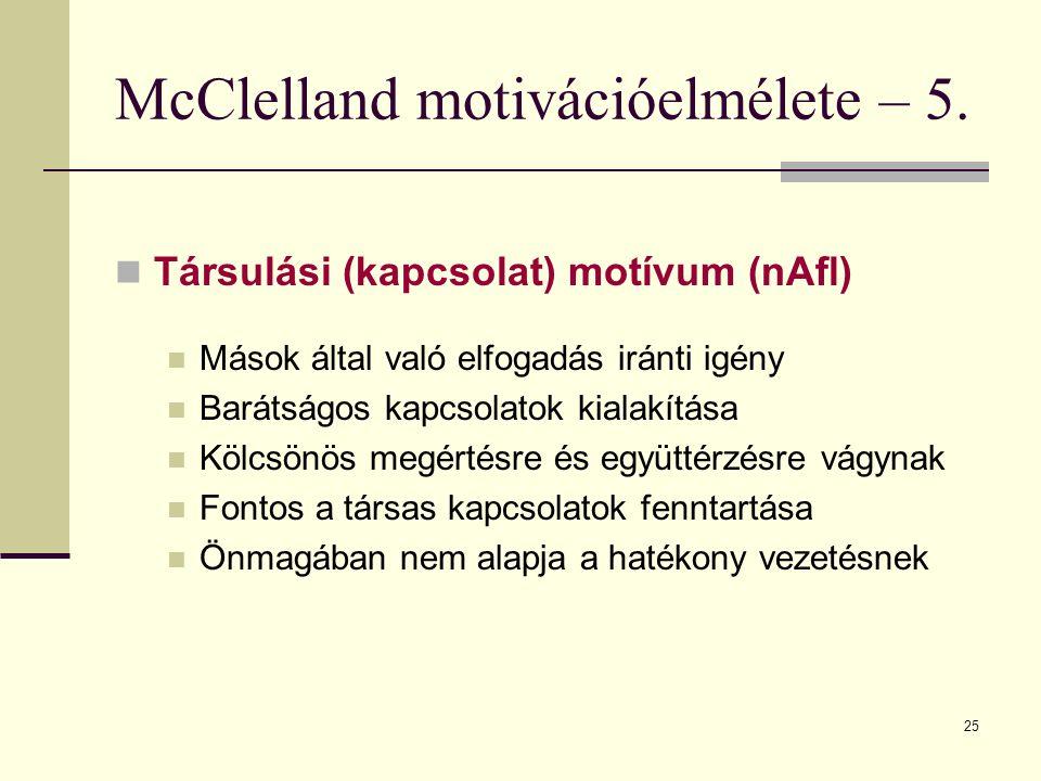 McClelland motivációelmélete – 5.