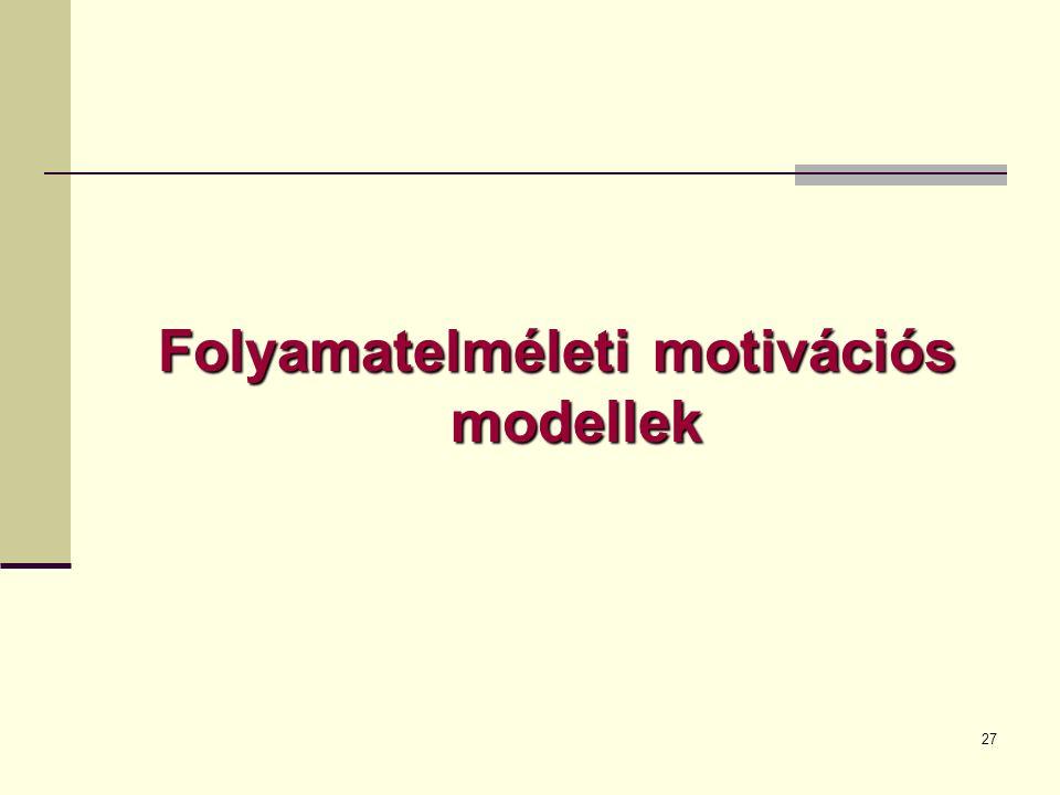 Folyamatelméleti motivációs modellek