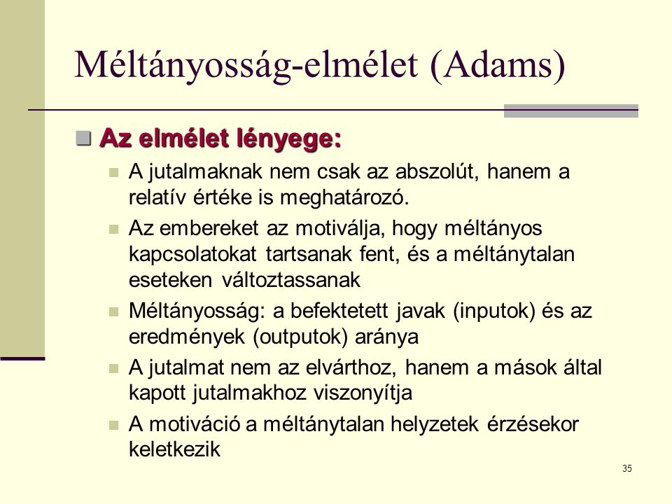Méltányosság-elmélet (Adams)