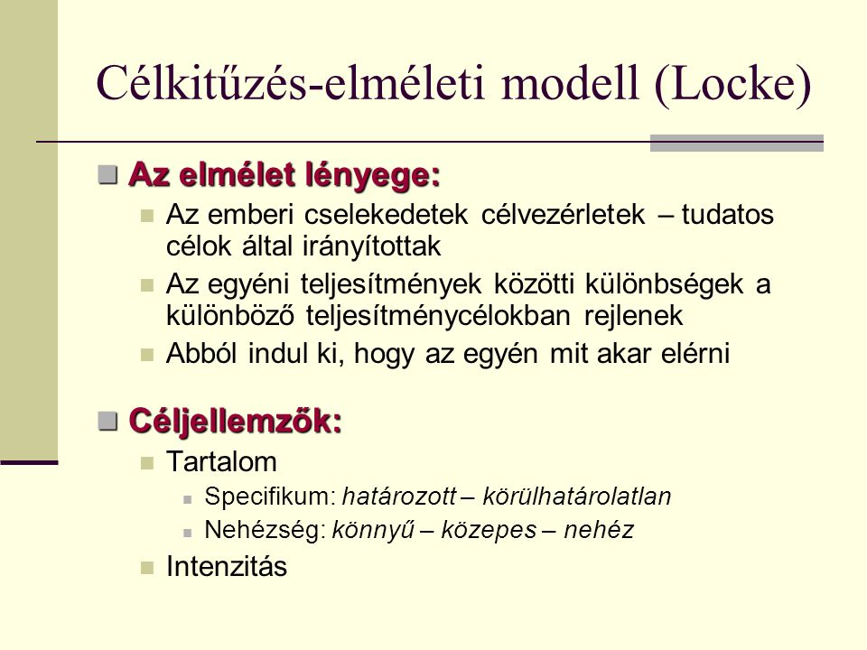 Célkitűzés-elméleti modell (Locke)