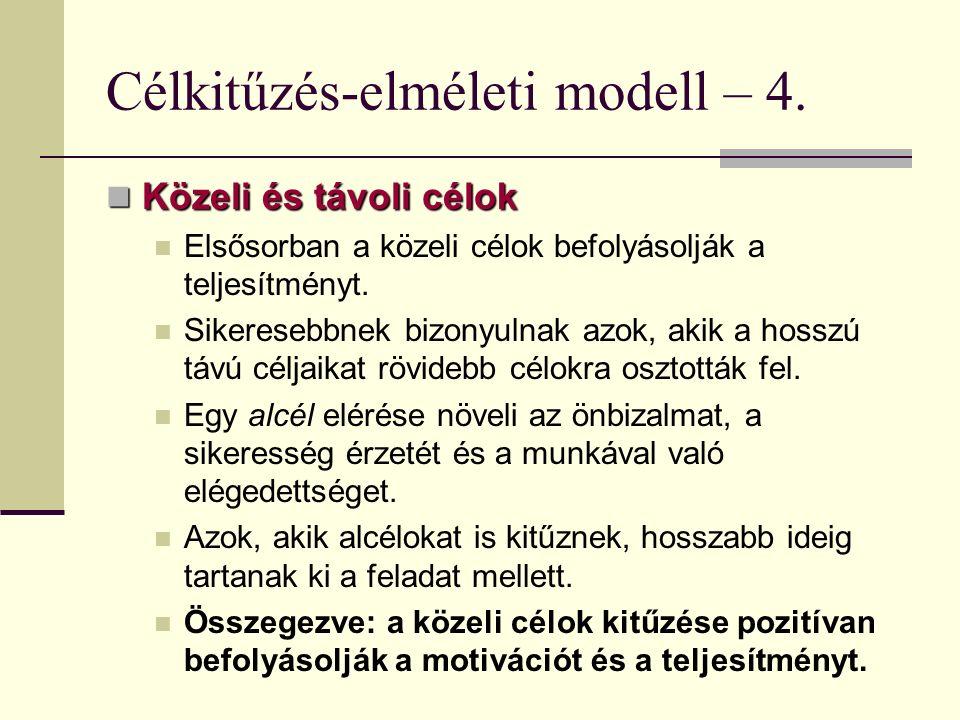 Célkitűzés-elméleti modell – 4.