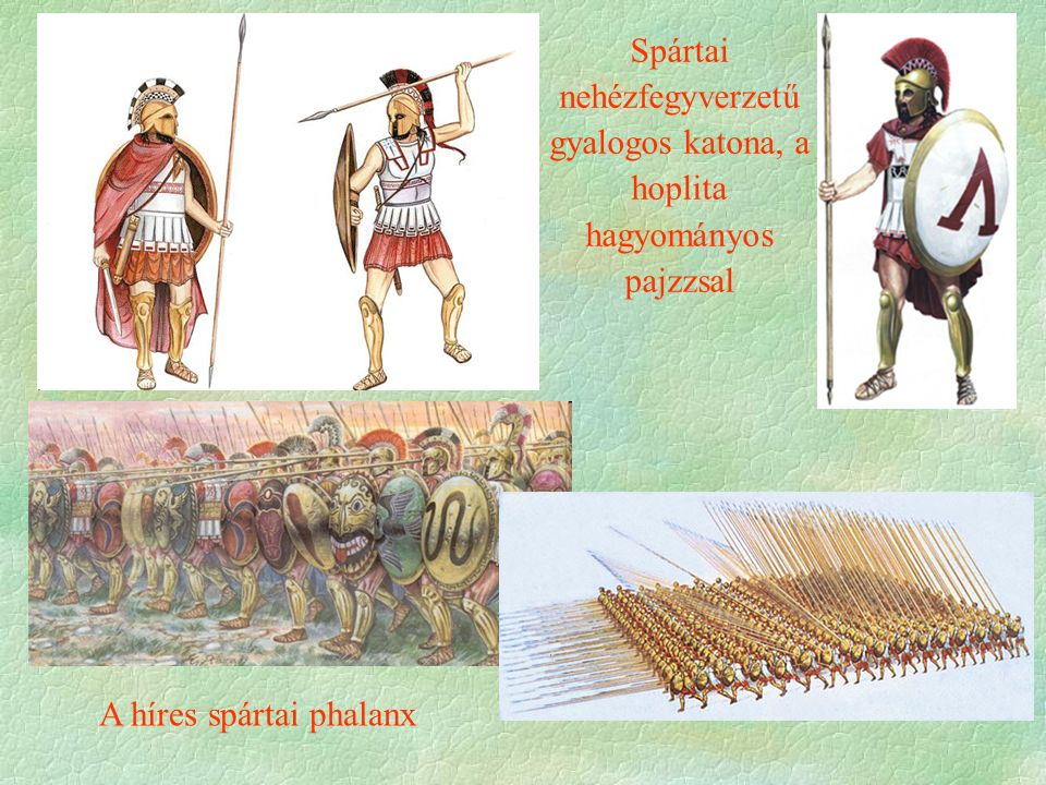 A híres spártai phalanx