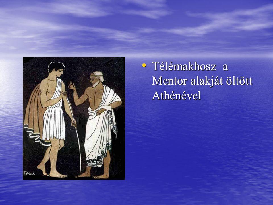 Télémakhosz a Mentor alakját öltött Athénével