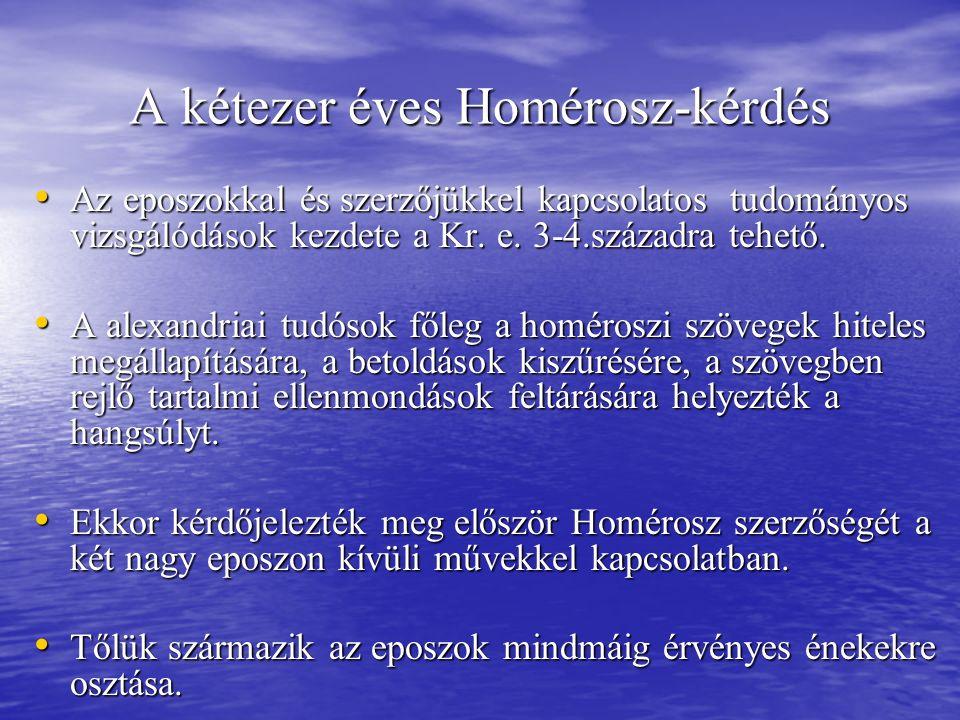 A kétezer éves Homérosz-kérdés