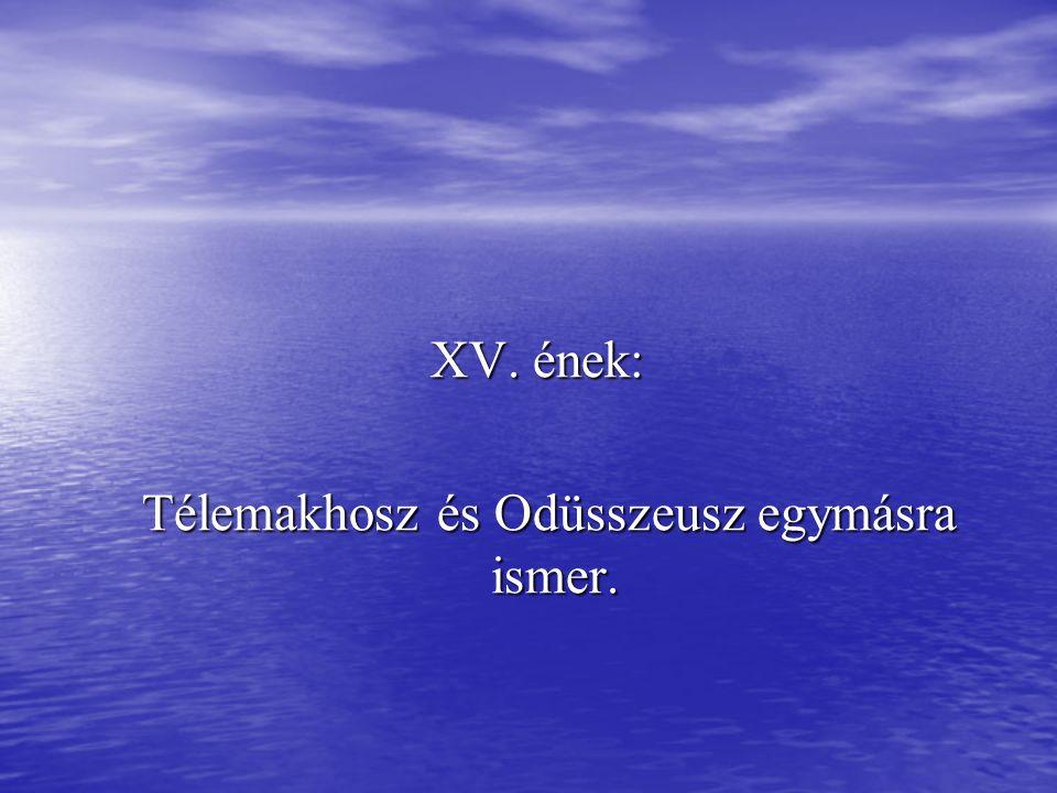 XV. ének: Télemakhosz és Odüsszeusz egymásra ismer.