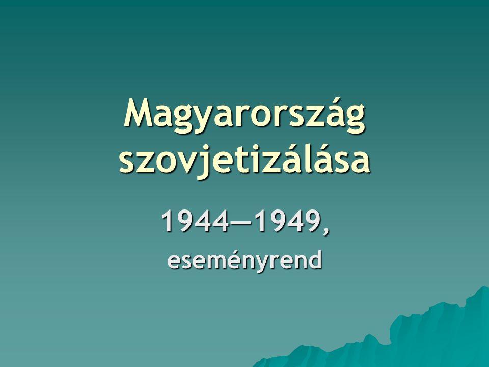 Magyarország szovjetizálása