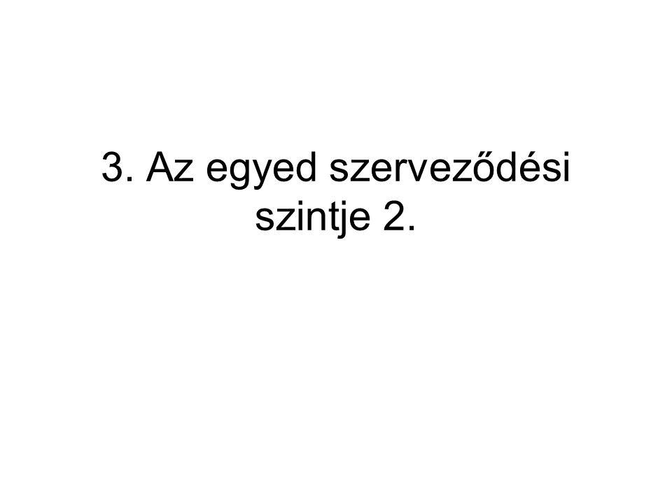 3. Az egyed szerveződési szintje 2.