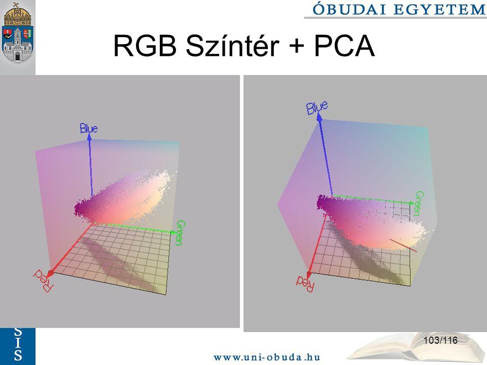 RGB Színtér + PCA