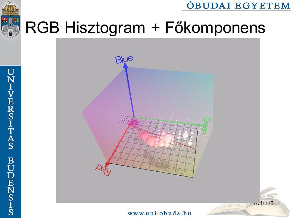 RGB Hisztogram + Főkomponens