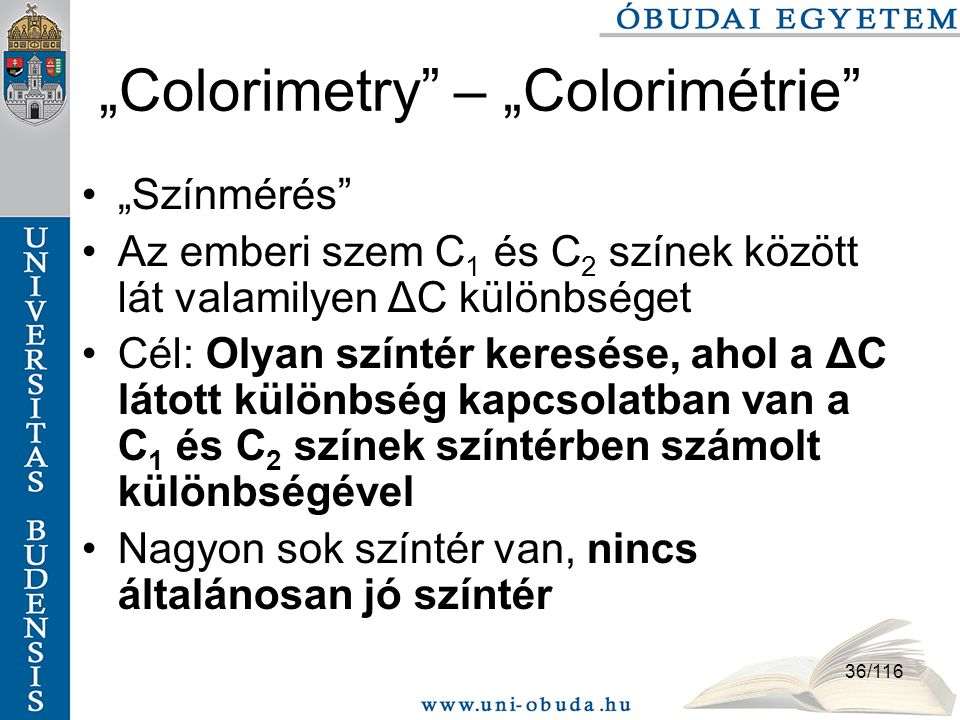 """Colorimetry – ""Colorimétrie"