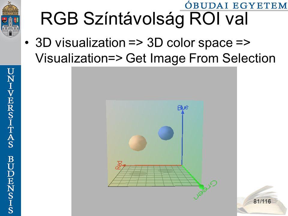 RGB Színtávolság ROI val