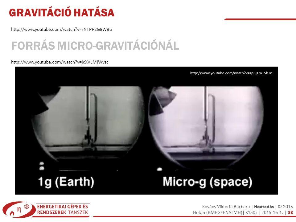 Forrás micro-gravitációnál