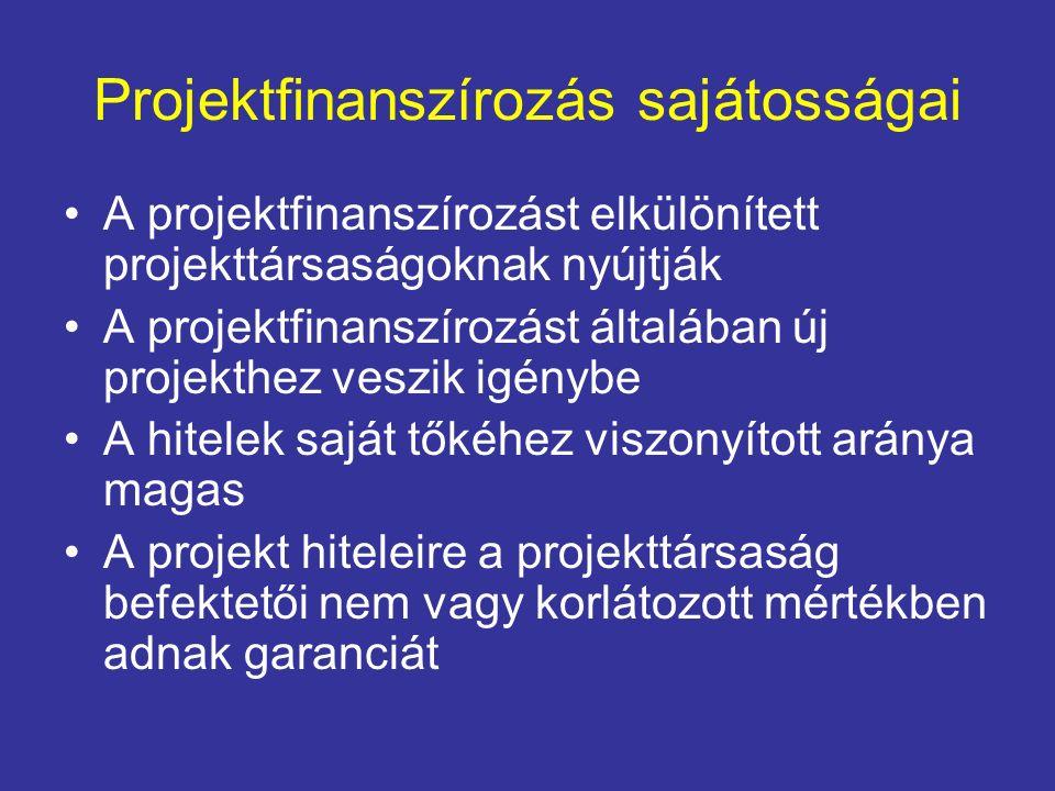 Projektfinanszírozás sajátosságai
