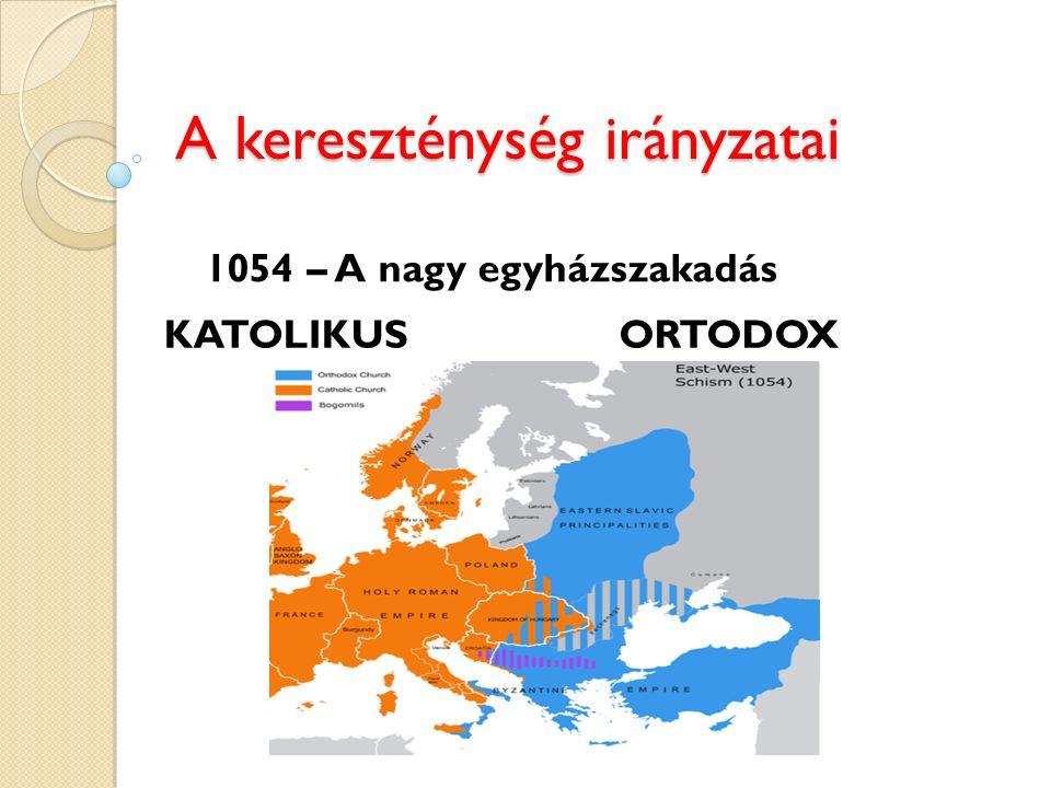 A kereszténység irányzatai